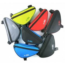 B-SOUL Tas Sepeda Segitiga Nylon Waterproof - YA191 - Black/Blue - 5