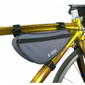 B-SOUL Tas Sepeda Segitiga Nylon Waterproof - YA191 - Gray