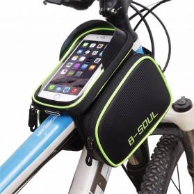 B-SOUL Tas Sepeda Waterproof Smartphone 6.2 Inch - YA0210 - Black/Red - 2