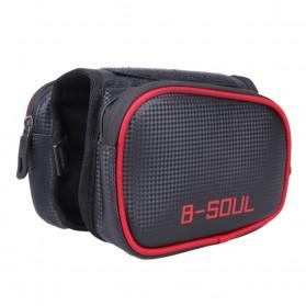 B-SOUL Tas Sepeda Waterproof Smartphone 6.2 Inch - YA0210 - Black/Red - 4
