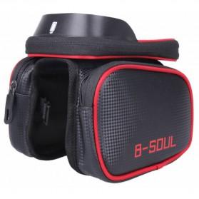 B-SOUL Tas Sepeda Waterproof Smartphone 6.2 Inch - YA0210 - Black/Red - 6