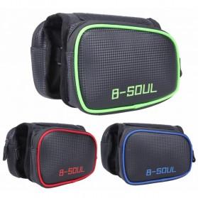B-SOUL Tas Sepeda Waterproof Smartphone 6.2 Inch - YA0210 - Black/Red - 7