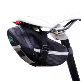 B-SOUL Tas Sepeda Waterproof Storage Saddle Seat Cycling Tail Rear Pouch Bag - Black