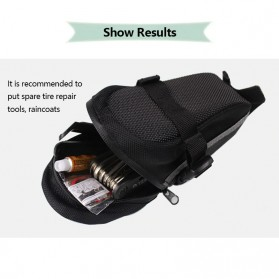 B-SOUL Tas Sepeda Waterproof Storage Saddle Seat Cycling Tail Rear Pouch Bag - Black - 2