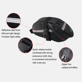 B-SOUL Tas Sepeda Waterproof Storage Saddle Seat Cycling Tail Rear Pouch Bag - Black - 3