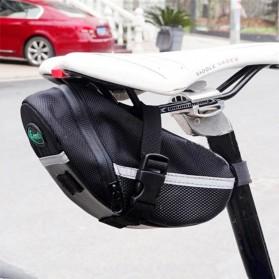 B-SOUL Tas Sepeda Waterproof Storage Saddle Seat Cycling Tail Rear Pouch Bag - Black - 6