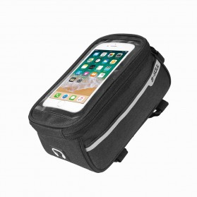 B -Soul Tas Sepeda Handlebar Smartphone Screen Touch Waterproof - XY60 - Black - 2