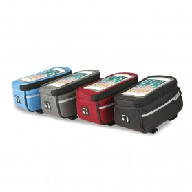 B -Soul Tas Sepeda Handlebar Smartphone Screen Touch Waterproof - XY60 - Black - 3
