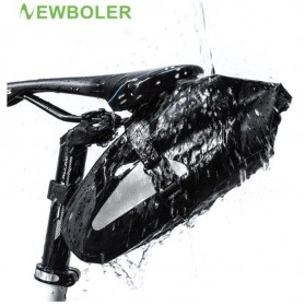 Newboler Tas Jok Sepeda Saddle Safety Bag Waterproof 3L - BAG009 - Black
