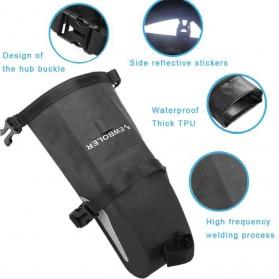 Newboler Tas Jok Sepeda Saddle Safety Bag Waterproof 3L - BAG009 - Black - 3