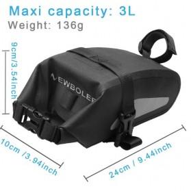 Newboler Tas Jok Sepeda Saddle Safety Bag Waterproof 3L - BAG009 - Black - 5