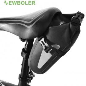 Newboler Tas Jok Sepeda Saddle Safety Bag Waterproof 3L - BAG009 - Black - 6