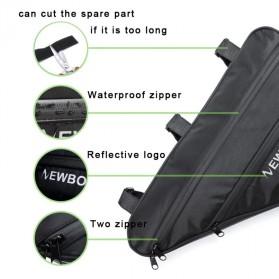 Newboler Tas Sepeda Segitiga Large Bicycle Triangle Bag Size XL - BAG011 - Black - 5