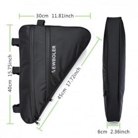 Newboler Tas Sepeda Segitiga Large Bicycle Triangle Bag Size XL - BAG011 - Black - 6