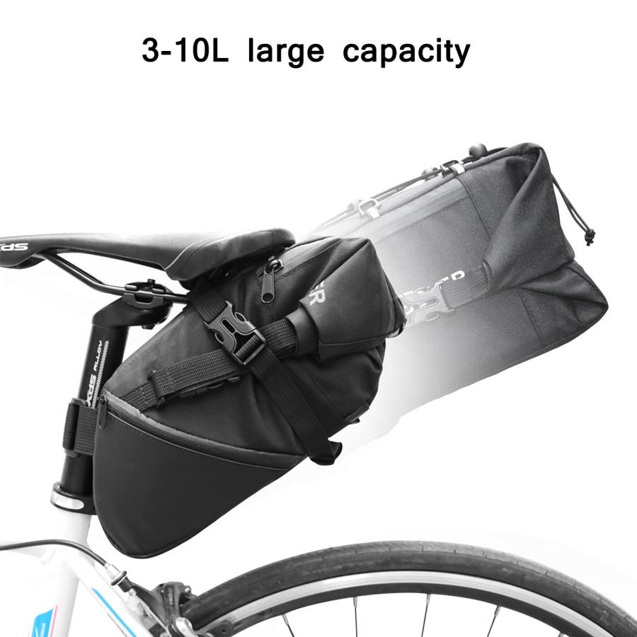 Newboler Tas Sepeda Saddle Bag 10l Bag026 Black Roswheel Bike Waterproof With Smartphone 2