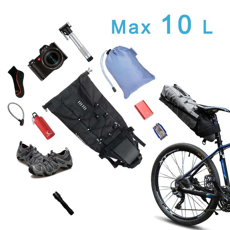 Newboler Tas Sepeda Saddle Bag 10l Bag026 Black Roswheel Bike Waterproof With Smartphone 3