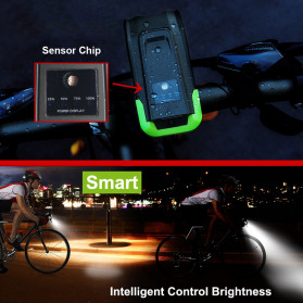 NEWBOLER Lampu Klakson Sepeda Bike Light Waterproof T6 LED 800 Lumens 2000mAh - BK1718A - Black - 3