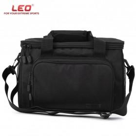 LEO Tas Selempang Perlengkapan Memancing Profesional Multifungsi Fishing Canvas Bag - 27748 - Black