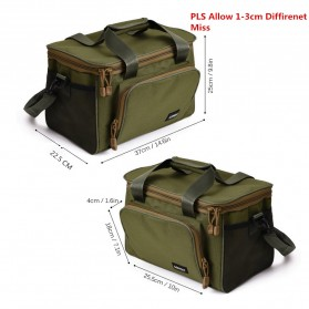 LEO Tas Selempang Perlengkapan Memancing Profesional Multifungsi Fishing Canvas Bag - 27748 - Black - 5