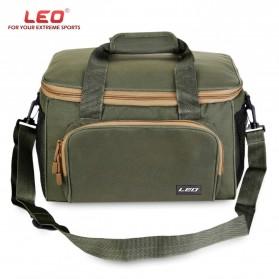 LEO Tas Selempang Perlengkapan Memancing Profesional Multifungsi Fishing Canvas Bag - 27748 - Army Green