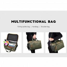 LEO Tas Selempang Perlengkapan Memancing Profesional Multifungsi Fishing Canvas Bag - 27748 - Army Green - 9