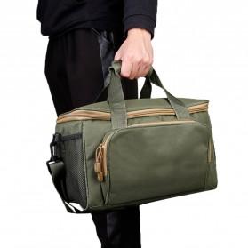 LEO Tas Selempang Perlengkapan Memancing Profesional Multifungsi Fishing Canvas Bag - 27748 - Army Green - 10