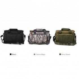 LEO Tas Selempang Perlengkapan Memancing Profesional Multifungsi Fishing Canvas Bag - 27748 - Army Green - 4