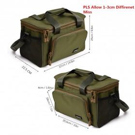 LEO Tas Selempang Perlengkapan Memancing Profesional Multifungsi Fishing Canvas Bag - 27748 - Army Green - 5