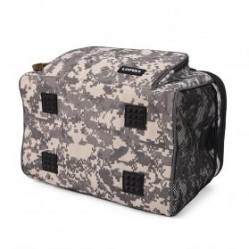 LEO Tas Selempang Perlengkapan Memancing Profesional Multifungsi Fishing Canvas Bag - 27748 - Army Green - 7