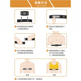 MAGENE Heart Rate Sensor Belt Dual Mode ANT+ & Bluetooth - H64 - Black - 5
