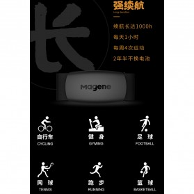 MAGENE Heart Rate Sensor Belt Dual Mode ANT+ & Bluetooth - H64 - Black - 7