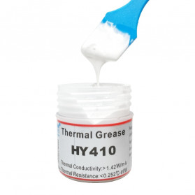 HY410 Thermal Paste CPU Heatsink Silicone Compound Conductive Grease 25g with Scraper - Gray