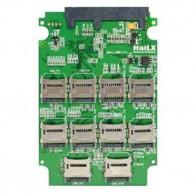 Micro SD to Sata Adapter Raid - Green