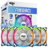 Heatsink & Fan - Aigo Aurora C5 CPU Fan RGB LED 120mm 5 PCS with Controller