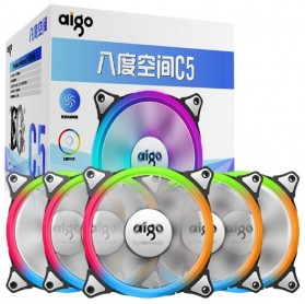 Heat Sink - Aigo Aurora C5 CPU Fan RGB LED 120mm 5PCS with Controller