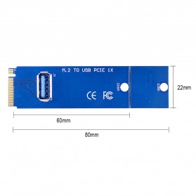 NGFF M.2 Slot to USB 3.0 Card Riser Adapter for Bit Coin Miner - Blue - 2