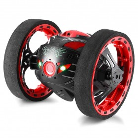 Mobil Remote Control Lompat Akrobatik RC Bounce Stunt Jumping Mini Car - PEG-88 - Black/Red
