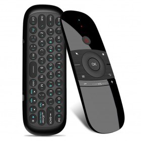 MEELOPLUS Mini Wireless Air Mouse 6-Axis 2.4GHz with Keyboard - W1 - Black