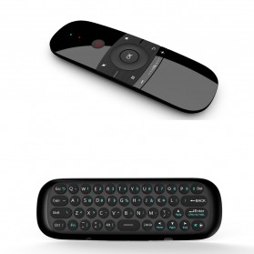 MEELOPLUS Mini Wireless Air Mouse 6-Axis 2.4GHz with Keyboard - W1 - Black - 2