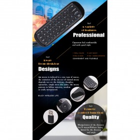 MEELOPLUS Mini Wireless Air Mouse 6-Axis 2.4GHz with Keyboard - W1 - Black - 8