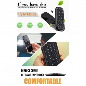 MEELOPLUS Mini Wireless Air Mouse 6-Axis 2.4GHz with Keyboard - W1 - Black - 10