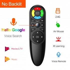 VONTAR Wireless Air Mouse 6 Axis Gyroscope 2.4GHz with Voice Search - Q6 - Black