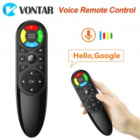 VONTAR Wireless Air Mouse 6 Axis Gyroscope 2.4GHz with Voice Search - Q6 - Black - 2
