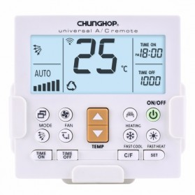 Remote AC / TV Universal - CHUNGHOP LCD Universal AC Remote Controller - K-650E - White