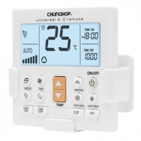 CHUNGHOP LCD Universal AC Remote Controller - K-650E - White - 2