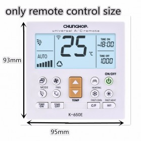 CHUNGHOP LCD Universal AC Remote Controller - K-650E - White - 8