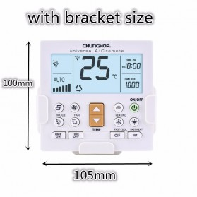 CHUNGHOP LCD Universal AC Remote Controller - K-650E - White - 9