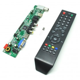 Universal LCD Controller Board TV Motherboard VGA / HDMI / AV / TV / USB - Black