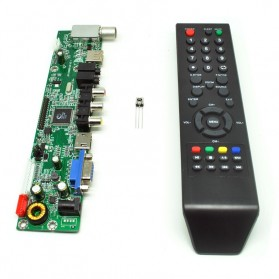 Universal LCD Controller Board TV Motherboard VGA / HDMI / AV / TV / USB - Black - 2