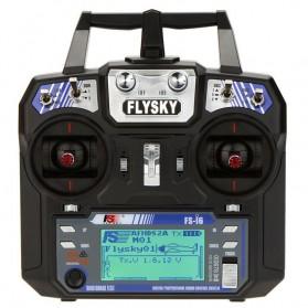 FlySky Remot Kontrol Drone RC Transmitter 2.4Ghz - Fs-i6 - Black - 6